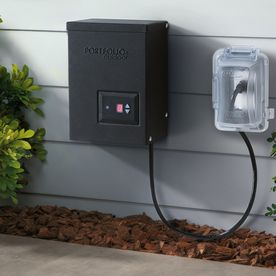 Shop Portfolio 200-Watt 12-Volt Multi-Tap Transformer Landscape Lighting Transformer with Digital Timer with Dusk-To-Dawn Sensor at Lowes.com