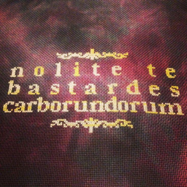 Nolite te bastardes carborundorum - from The Handmaid's Tale