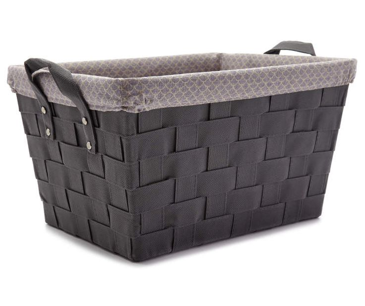Gray Weave Bin with Cloth Liner at Big Lots. | Home ...