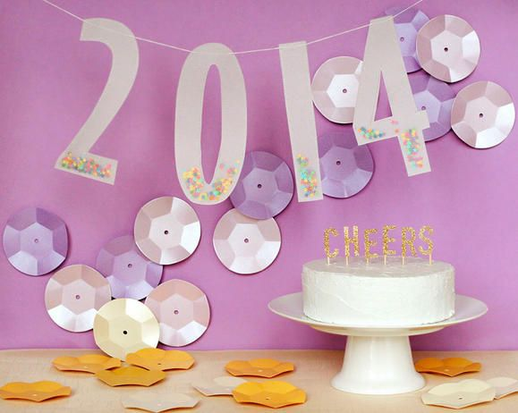Razzle Dazzle New Year's Eve Party; love, love the vellum number banner! www.fiskars.com