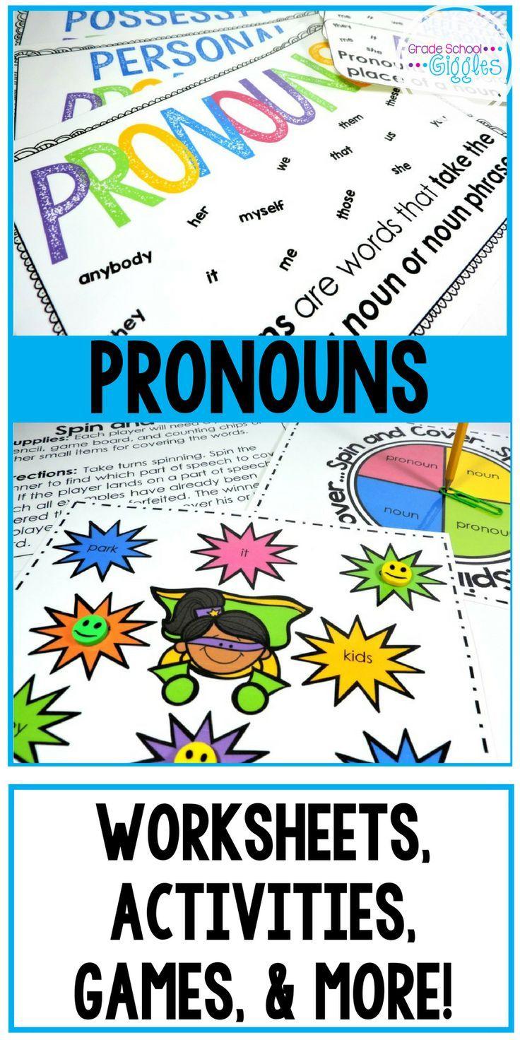 Pronoun Worksheets And Activities Pronoun Activities Personal Pronouns Activities Pronouns Lesson [ 1472 x 736 Pixel ]