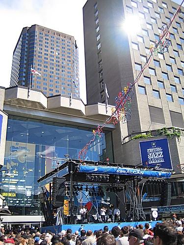 Complexe Desjardins during Jazz Festival, Montréal, Québec