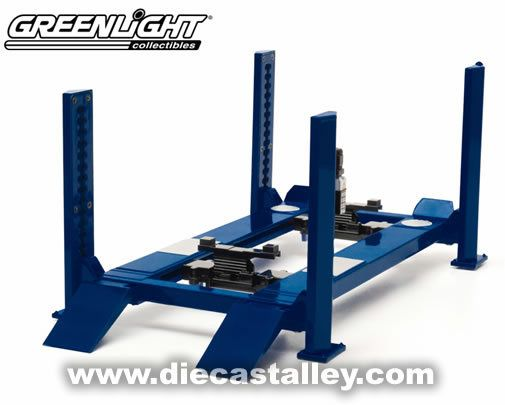 Die Cast Alley - GreenLight 1/18 Four Post Lift, $24.99 (http://www.diecastalley.com/greenlight-1-18-four-post-lift/)