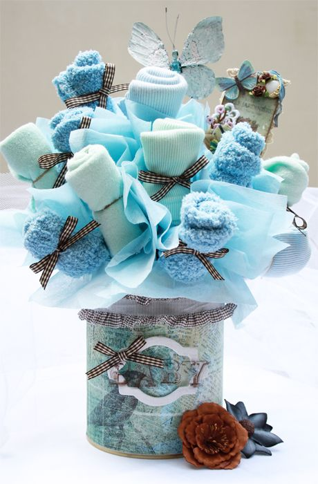 Small Baby Shower Ideas | Tip: Save baby formula tins they make perfect containers and are easy ...