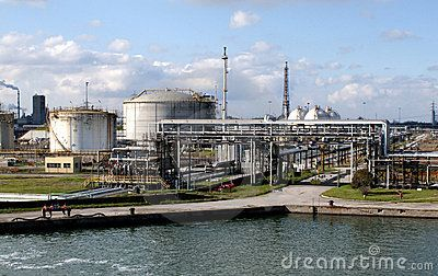 view of chemical plant in argentina