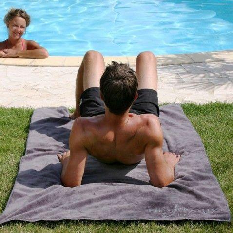 Drap de bain homme Twin Sir #idée #cadeau #gift #papa #homme #FêteDesPères #jardin #déco #piscine #original #serviette #plage #douceur #desjoyaux #laboutiquedesjoyaux