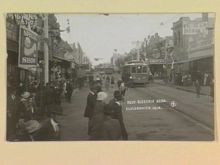 NEW ELECTRIC CARS. ELSTERNWICK, 1913. [picture] , State Library of Victoria