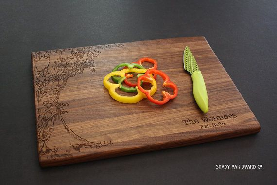 Personalized Cutting Board Love Tree w Carved by ShadyOakBoardCo