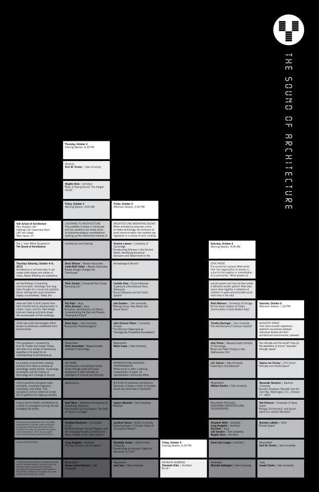 """""""The Sound of Architecture."""" Poster designed by Pentagram/Michael Beirut."""