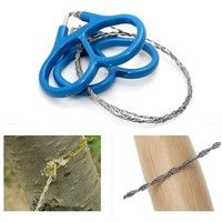 Wish | New Outdoor Steel Wire Saw Scroll Emergency Travel Camping Hiking Survival Tool (Size: 60 cm)