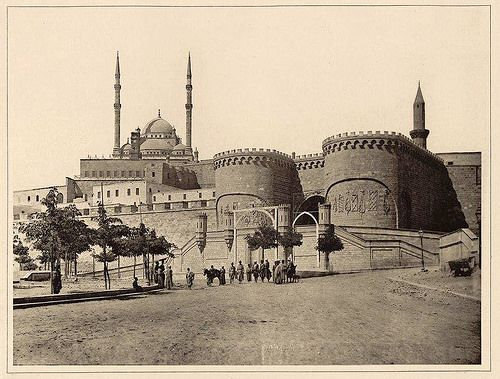 bab el azab and mohamed ali mosque in the late 1800s flickr
