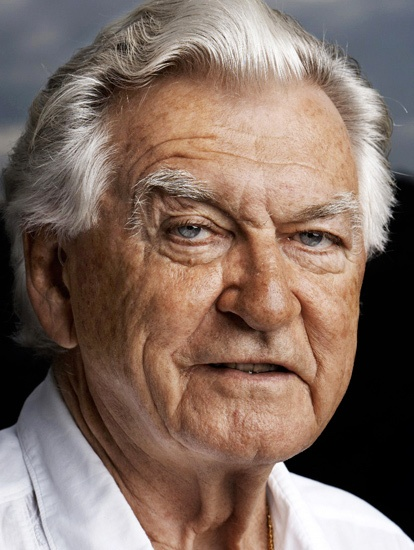 Hands down my favourite portrait. Former Australian Labor Prime Minister Bob Hawke by photographer Peter Brew-Bevan