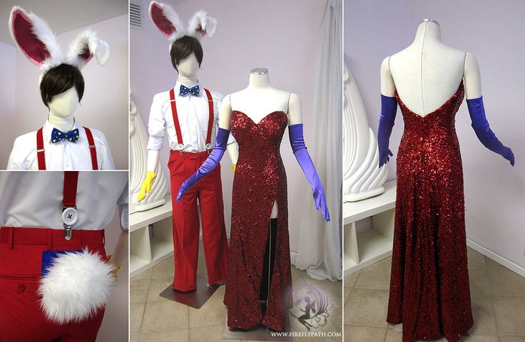 Roger Rabbit and Jessica Rabbit costume by Lillyxandra.deviantart.com on @deviantART