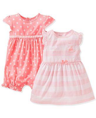 Carter's Baby Girls' 2-Pack Romper & Dress Set - Kids Baby Girl (0-24 months) - Macy's