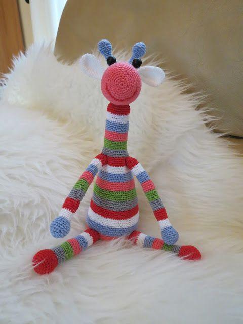O cantinho da Sila: Girafa colorida