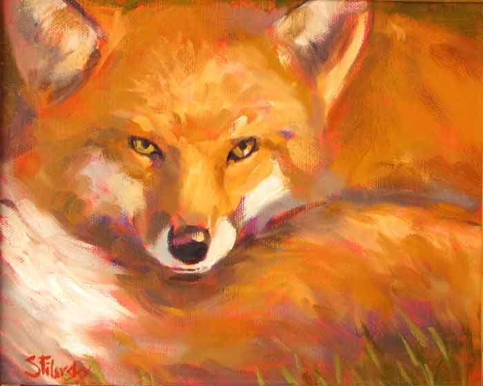 Abstract Fox Paintings Stephen Filarsky Painting