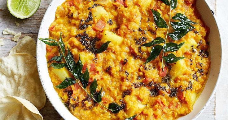 For a healthy meal that's packed full of flavour, try this delicious lentil and vegie dhal.