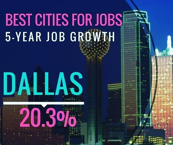 The DFW metroplex ranks No. 1 on @Forbes' Best Cities for Jobs list with a 20.3% growth rate in the last five years. More jobs means more people. More people means more investments in water and wastewater infrastructure. . . #waterindustry #water #wastewater  #infrastructure #Dallas #jobs