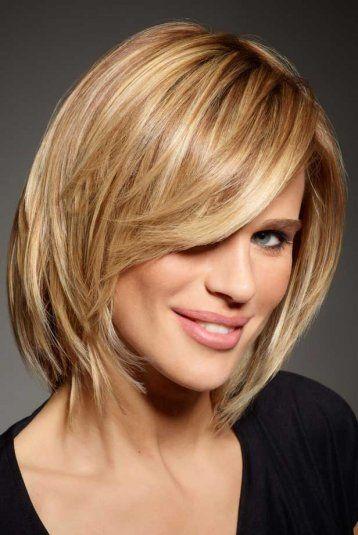 Et si je coupais mes cheveux... Coupe au carré avec mèche sur le côté Intermède - Marie Claire