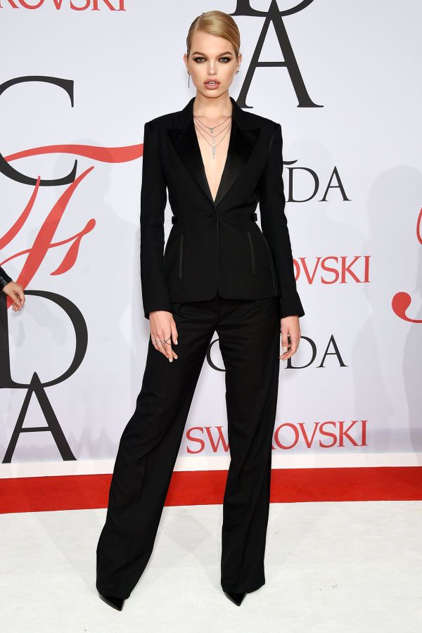 Daphne Groeneveld in Tom Ford at the CFDA Awards