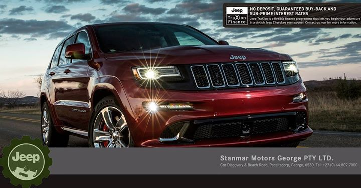 Introducing the #Jeep #TraXion finance option, the all new way to drive a brand new Jeep #GrandCherokee. No Deposit, Guaranteed Buy-Back and Sub-Prime Interest Rates! Contact #TeamStanmar on 044 802 7000 now for more information on this amazing new way to drive a brand new Jeep. Ts&Cs Apply