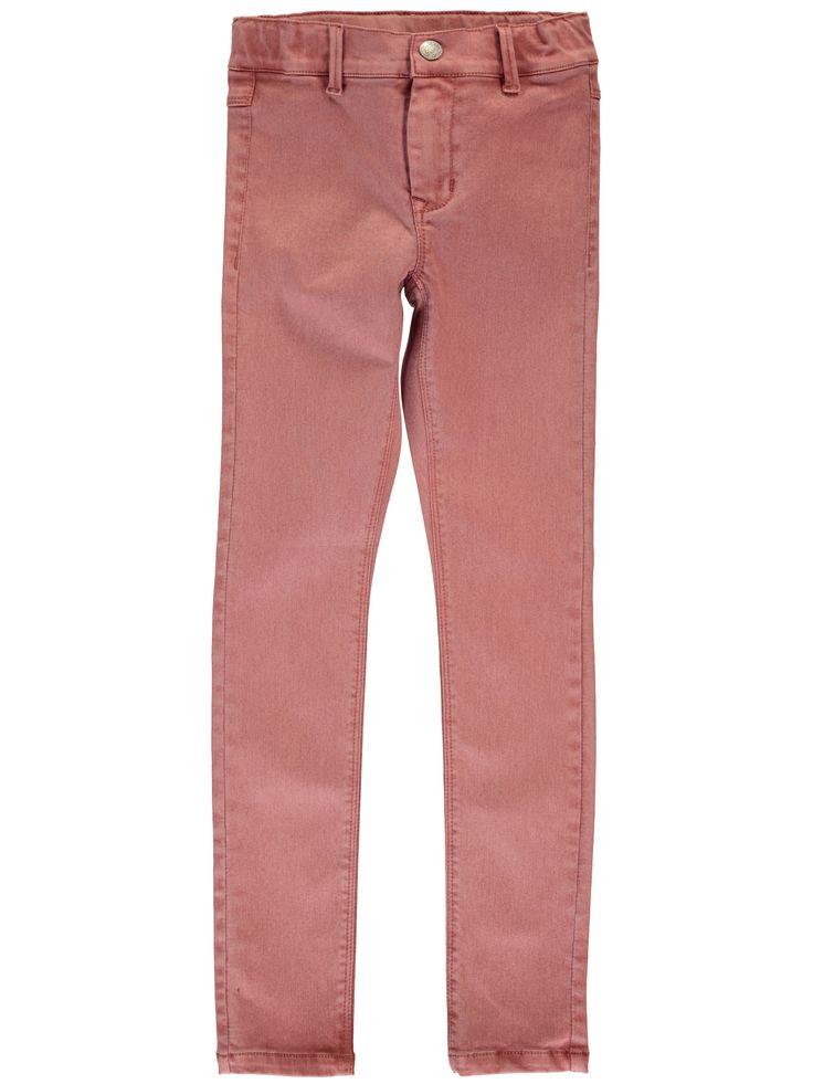 Meisjes broek NITTE skinny van het merk Name-it Roos kleurige meisjes lange broek, deze broek is een skinny power stretch model. Deze rekt zeer hard mee. De broek is voorzien van een schuif knoop + een rits sluiting en is verstelbaar in de taille.
