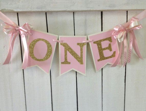 Hey, I found this really awesome Etsy listing at https://www.etsy.com/listing/223062403/pink-and-gold-birthday-high-chair-banner