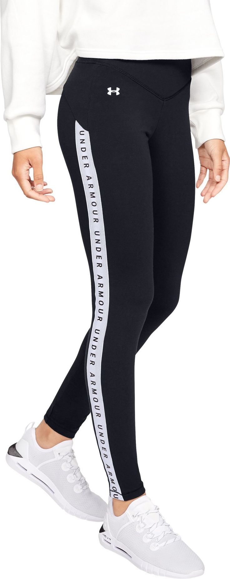 Under Armour Women's Taped Favorite Leggings, Size: XS, Black 4