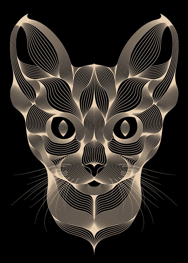 Chat by Patrick Seymour, via Behance  **I wish there could be a tutorial on how to do this illustration style...