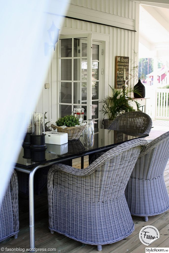 rotting,matplats,utemöbler,porch,veranda,new england,rustic,altan