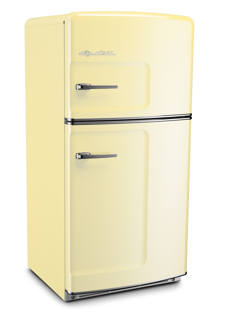 Buttercup Yellow Retro Refrigerator by Big Chill