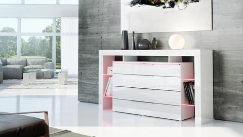 """Sideboard """"Lima Nova"""" in White High Gloss"""
