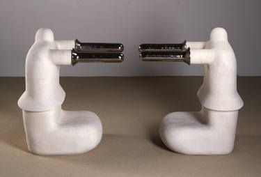 "Saatchi Art Artist Øyvind Suul; Sculpture, ""TWINS 2nd edition"" #art"