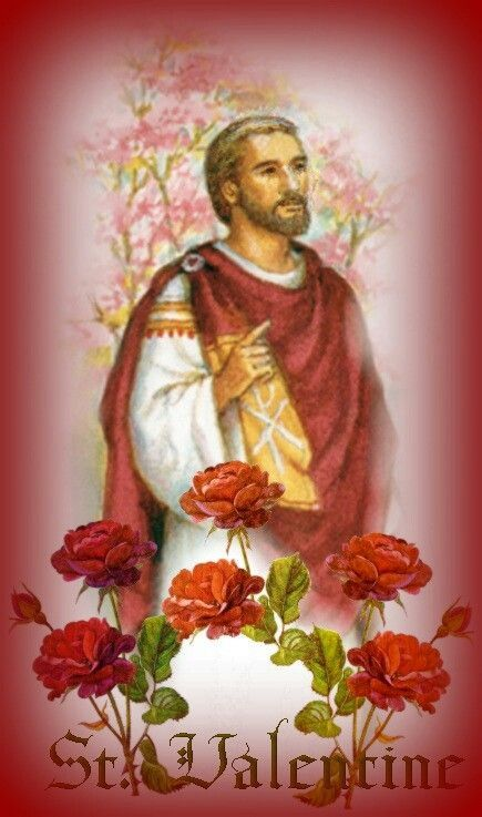 Saint Valentine -- St. Valentine and St. Ambrose both patron saints of beekeepers.  :)