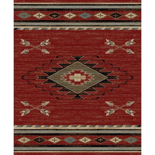 Perrault Red Gray Area Rug Western Area Rugs Area Rugs Red