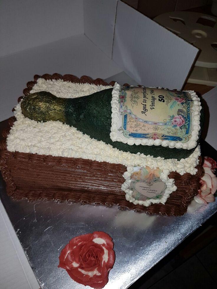 Edible bottle cake