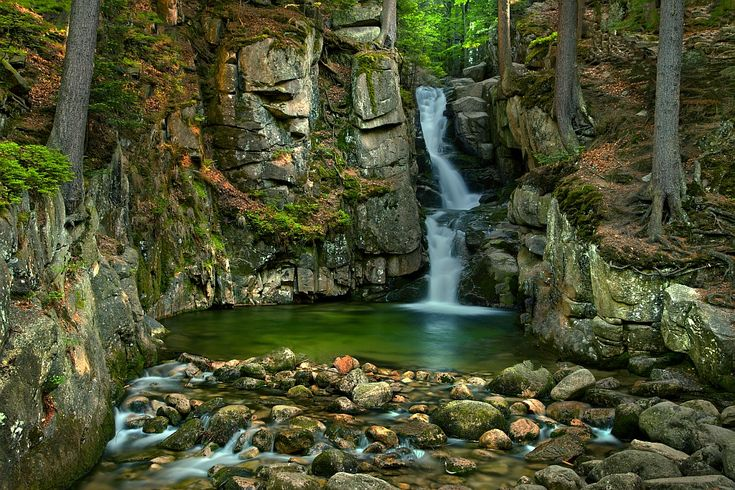waterfall near Karpacz (Poland)Kopa