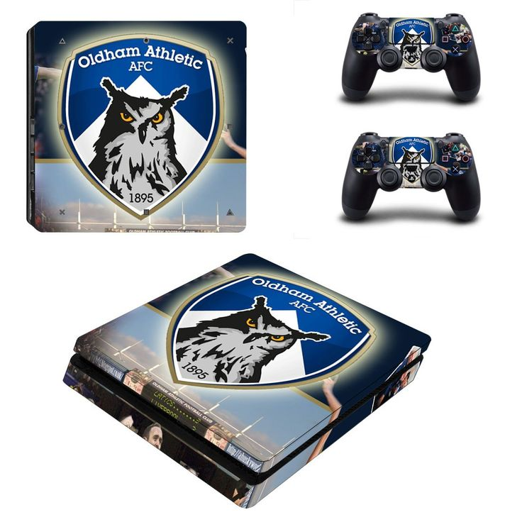 Oldham athletic AFC ps4 slim skin decal for console and 2 controllers