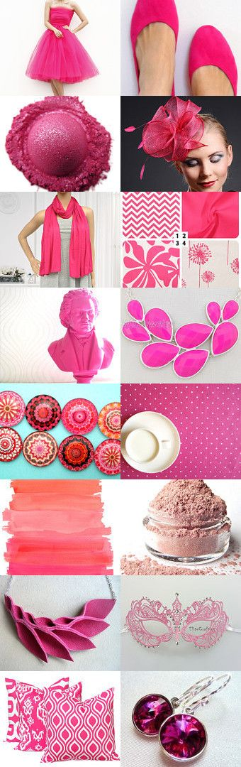 hot pink by Maggie Davis on Etsy--Pinned with TreasuryPin.com
