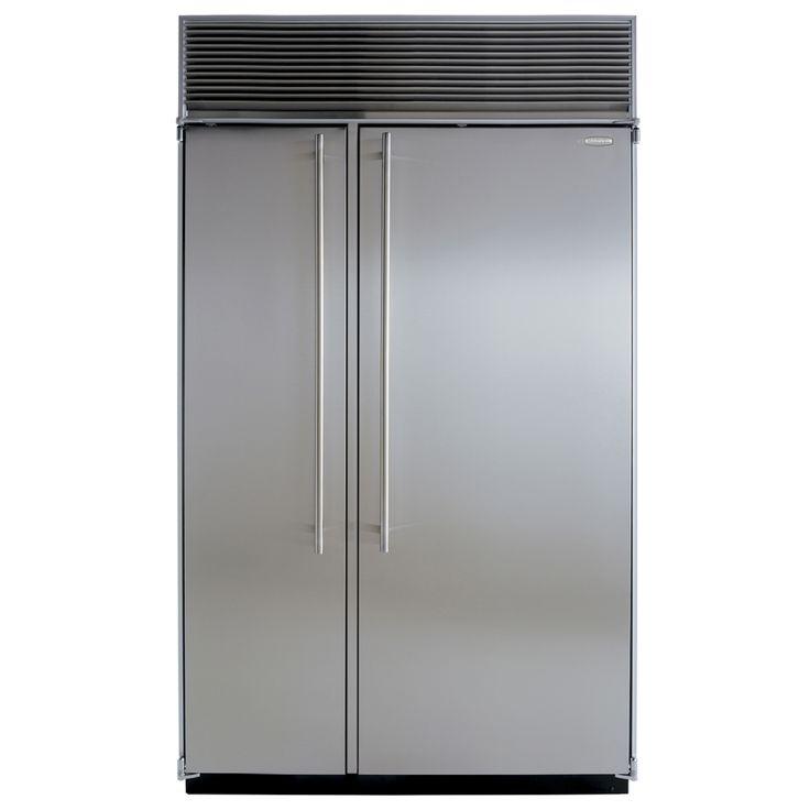 Marvel M48SSWP - 48' side by side split 18 (15.5) freezer and 30 (26) fridge