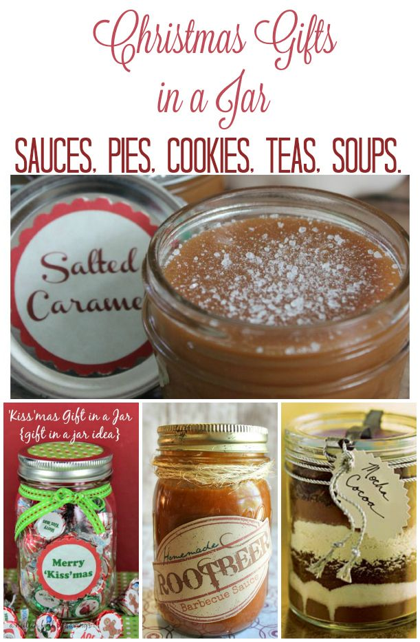 Great ideas for Christmas gifts in a jar. Give your friends a homemade gift they will really love this year!