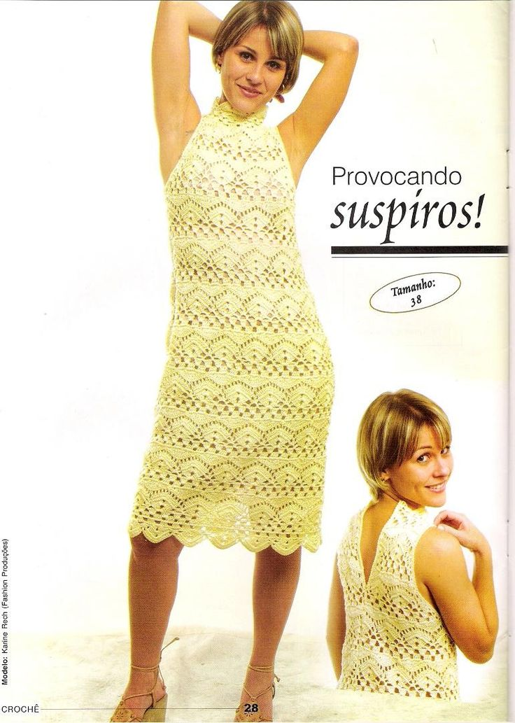 crochelinhasagulhas: Vestido amarelo de crochê