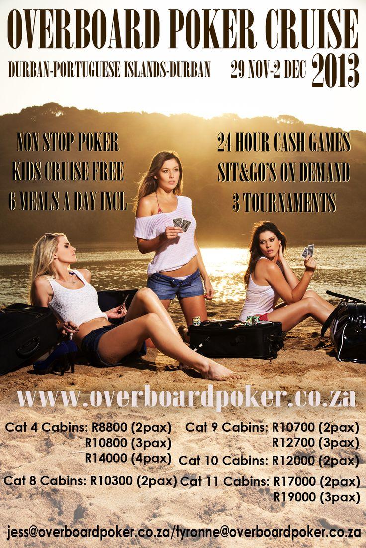 OVERBOARD AUGUST!!! www.overboardpoker.co.za