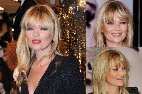 Kate Moss - Best celebrity fringes - fringe hairstyles