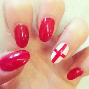 England | 38 Awesome Nail Art Designs Inspired By The World Cup