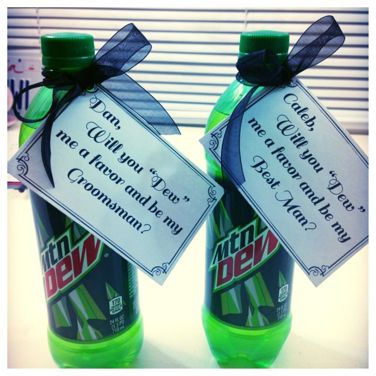 Groomsmen asking idea! This is how Drew asked his groomsmen :)