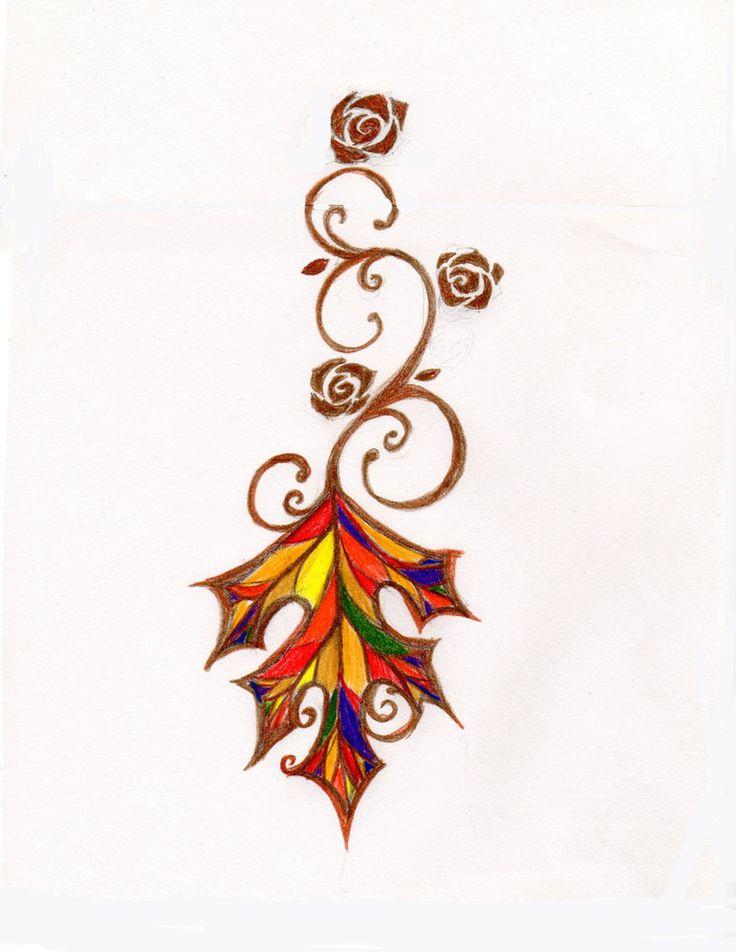 oak leaf tattoo design idea by ~liontakesdragon on deviantART