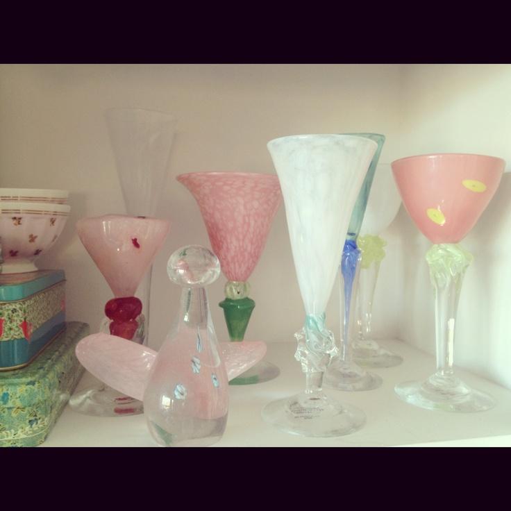 My beautiful, handmade art glass from Knapstad Glass .