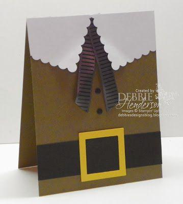 Debbie's Designs: Mr. Pilgrim Card! Great Thanksgiving Day Card idea