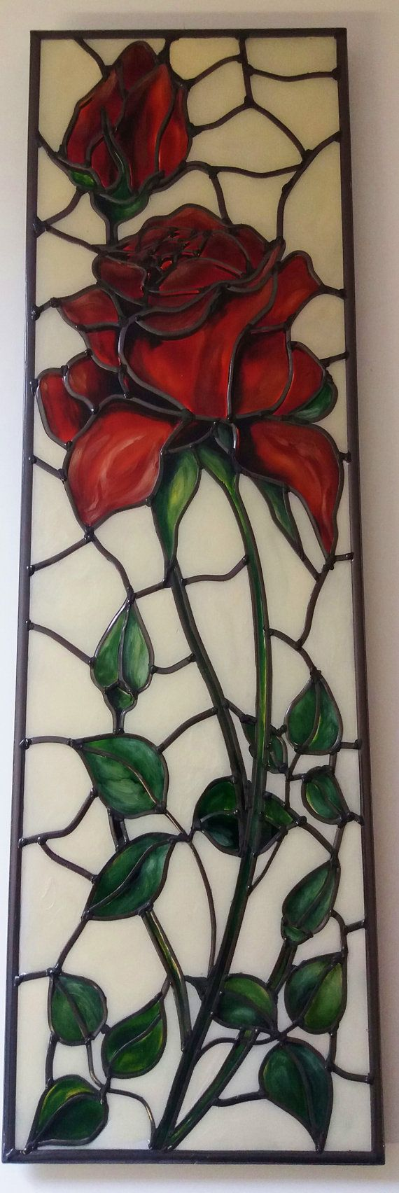 A bespoke Art Nouveau Tiffany style and by DouglasPayneDesigns